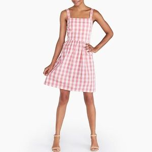 NWT Pink Gingham Fit and Flare Dress